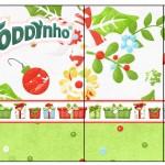 Rótulo Toddynho Fundo Natal Verde e Branco