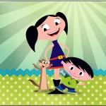 Rótulo Tubete Show da Luna para Meninos