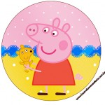 Rótulo Tubetes, Toppers e Latinhas Peppa Pig e Teddy
