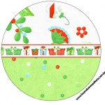 Rótulo Tubetes,Toppers e Latinhas Fundo Natal Verde e Branco 2