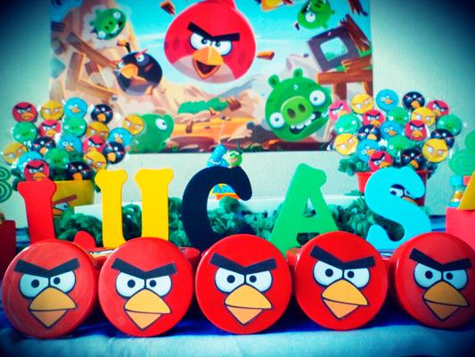 Letras Festa Angry Birds