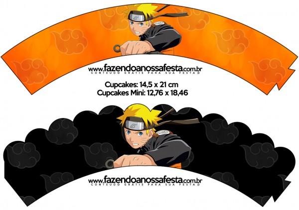 Saias Wrappers para Cupcakes Naruto