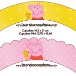 Saias Wrappers para Cupcakes Peppa Pig e Teddy