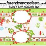 Saquinho de Balas Fundo Natal Verde e Branco