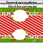 Saquinho de Balas Fundo Natal Vermelho e Verde