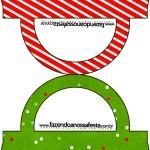 Saquinho de Balas Fundo Natal Vermelho e Verde 2
