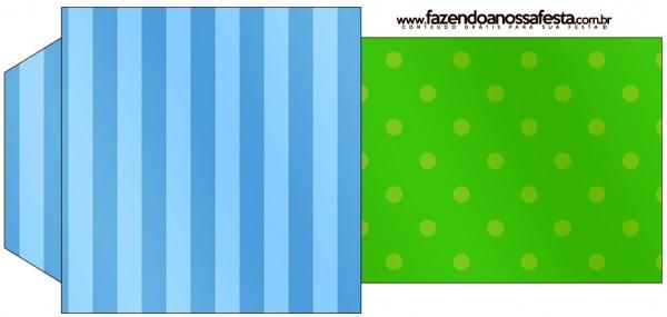Saquinho de Chá Fundo Azul e Verde