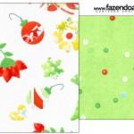 Saquinho de Chá Fundo Natal Verde e Branco