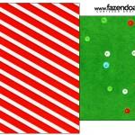 Saquinho de Chá Fundo Natal Vermelho e Verde