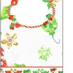 Tag Agradecimento Fundo Natal Verde e Branco
