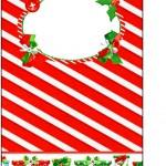 Tag Agradecimento Fundo Natal Vermelho e Verde