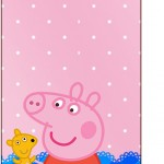 Tag Agradecimento Peppa Pig e Teddy