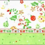 Tubetes Fundo Natal Verde e Branco