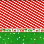 Tubetes Fundo Natal Vermelho e Verde