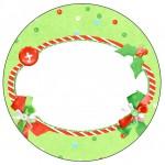 Tubetes e Latinhas Fundo Natal Verde e Branco
