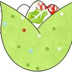 Tulipa Fundo Natal Verde e BrancoTulipa Fundo Natal Verde e Branco