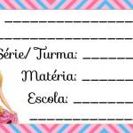 Etiqueta Escolar para Imprimir Barbie