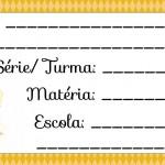 Etiqueta Escolar para Imprimir Anjinho