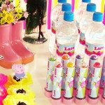 Tubetes e Água Festa Peppa Pig Princesa