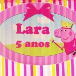 Placa Elipse Festa Peppa Pig Princesa