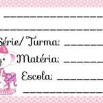 Etiqueta Escolar para Imprimir Lilica e Ripilica