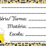 Etiqueta Escolar para Imprimir Abelinha