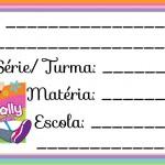Etiqueta Escolar para Imprimir Polly Poket