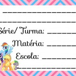 Etiqueta Escolar para Imprimir My Little Pony