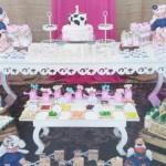 Decoração Mesa de Doces Festa Fazendinha Menina Rosa