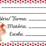 Etiqueta Escolar para Imprimir Moranguinho Baby