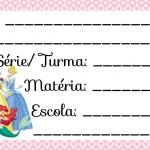 Etiqueta Escolar para Imprimir Princesas da Disney