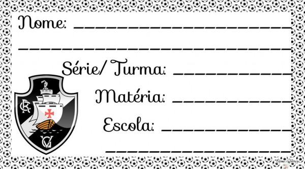 Etiqueta Escolar para Imprimir Vasco