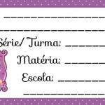 Etiqueta Escolar para Imprimir Princesa Sofia