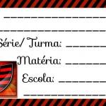 Etiqueta Escolar para Imprimir Flamengo