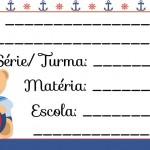 Etiqueta Escolar para Imprimir Ursinho Marinheiro