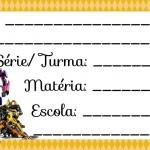 Etiqueta Escolar para Imprimir Transformers