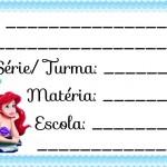 Etiqueta Escolar para Imprimir Pequena Sereia