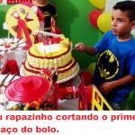 Bolo Festa Bombeiro do Lucas