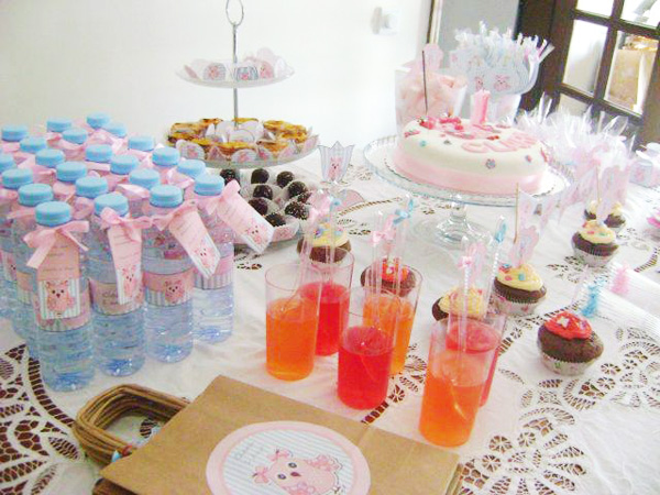 Guarrafinha de Água Festa Corujinha Rosa e Azul