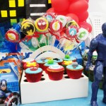 Cupcakes e Pirulitos Festa Esquadrão de Heróis