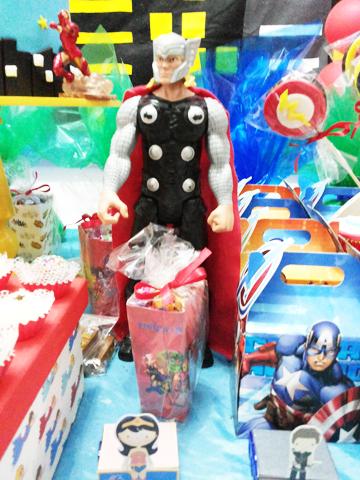 Caixa Pipoca Festa Esquadrão de Heróis