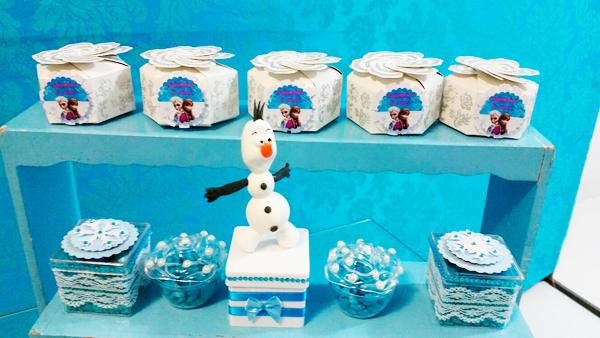 Caixinhas Festa Frozen da Sophia