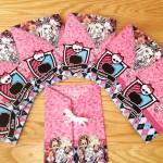 Convite Envelope Festa Monster High Rosa