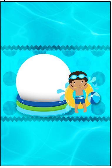 Bala Personalizada Pool Party Menino Moreno