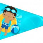 Bandeirinha Sanduiche 2 Pool Party Menino Moreno
