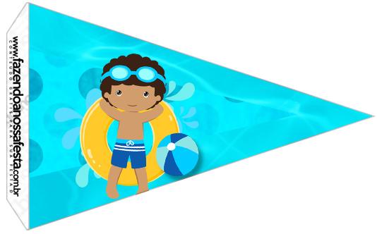 Bandeirinha Sanduiche 3 Pool Party Menino Moreno