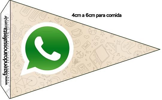 Bandeirinha Sanduiche 3 Whatsapp