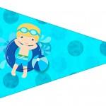 Bandeirinha Sanduiche 4 Pool Party