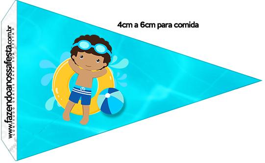 Bandeirinha Sanduiche Pool Party Menino Moreno 1