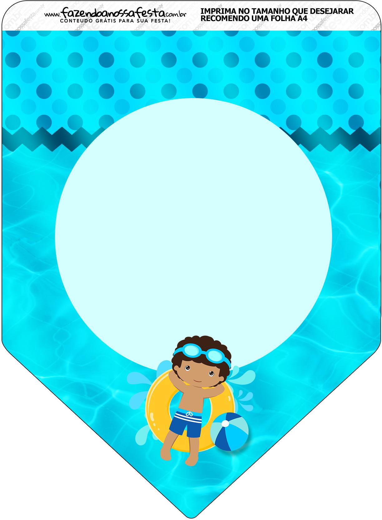 Bandeirinha Varalzinho Pool Party Menino Moreno - Fazendo ...